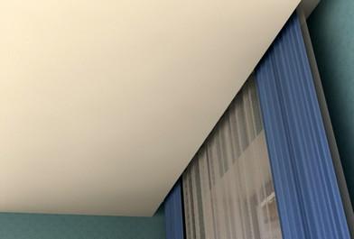 Натяжные потолки со скрытом карнизом